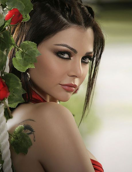 Bassam Fatouh Make-up with Haifa Wehbe - Backstage