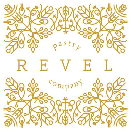 Revel Pastry Logo by Bryony Macintyre Design   www.bryonymacintyre.com
