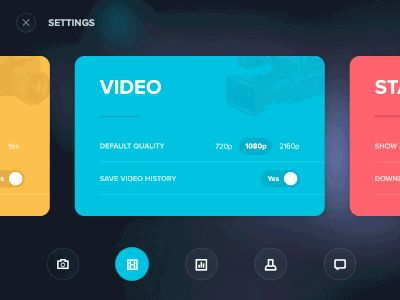 Settings fun navigation by Aurélien Salomon — The Best iPhone Device Mockups → store.ramotion.com