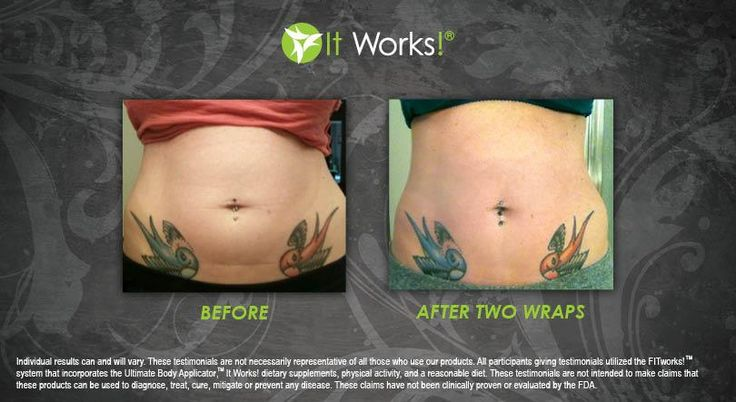 It Works Body Wraps Before And After Stomach Pictures