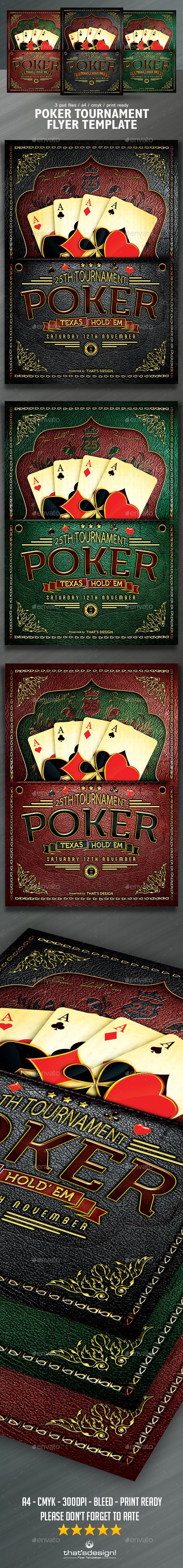 Poker Tournament Flyer Template  #flyer #gamble #gambling party • Available here → http://graphicriver.net/item/poker-tournament-flyer-template/6839931?s_rank=121&ref=pxcr