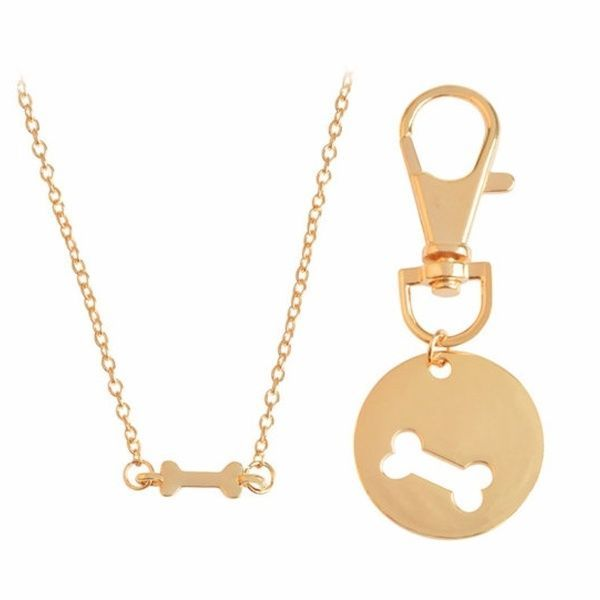 Gold Or Silver Matching Pet Best Friend Necklace Dog Tag