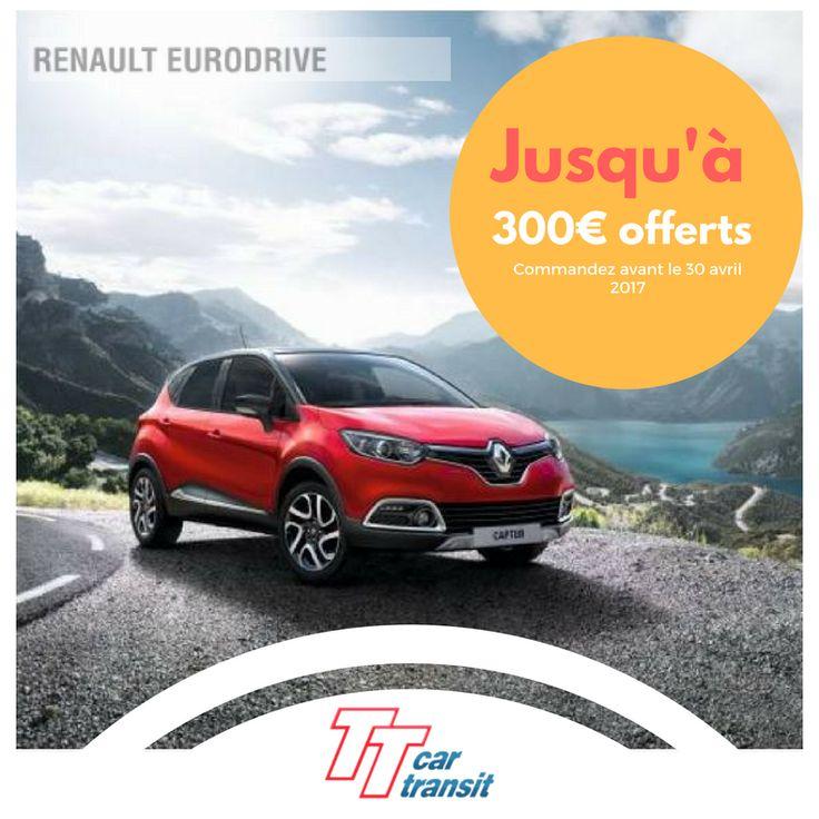 Economisez jusqu'à 300€ avec #Renault #Eurodrive #ttcar #ttcartransit #expat #expatlife http://bit.ly/2nPtpRV
