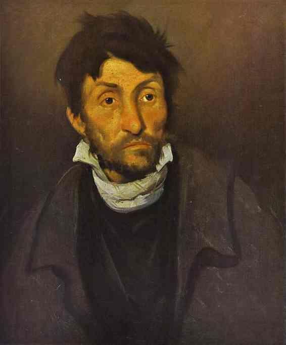 Théodore Géricault - Le monomane du vol (ou Le fou aliéné, ou Le cleptomane), 1822, 61.2 x 50.2 cm, musée des beaux-arts de Gand.
