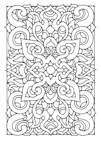 geometric pattern adult coloring pages pinterest adult coloring - Middle School Coloring Sheets