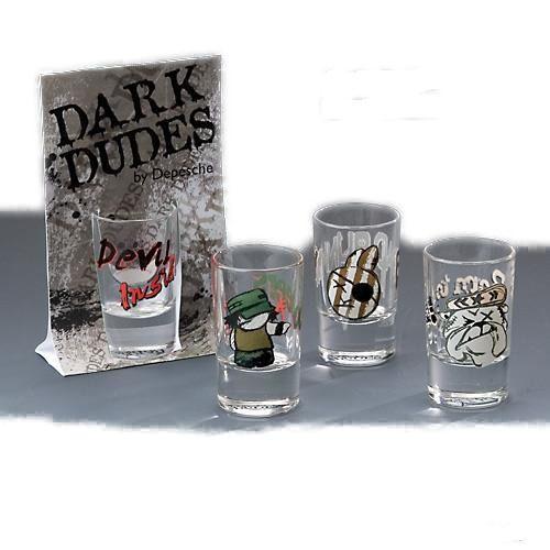 Set 4 bicchieri shot disegni  assortiti come da foto