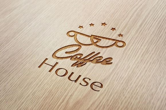 Coffee House Logo by Conflutech Designs on Creative Market