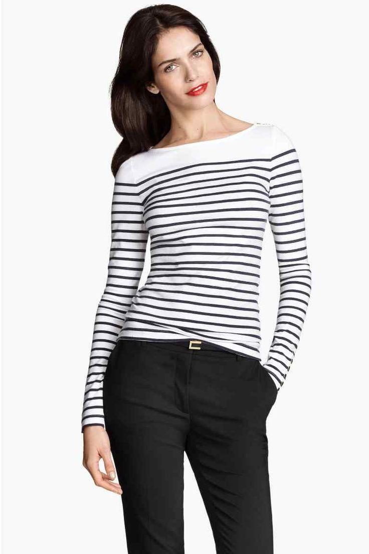 Camiseta de rayas cuello barco | H&M