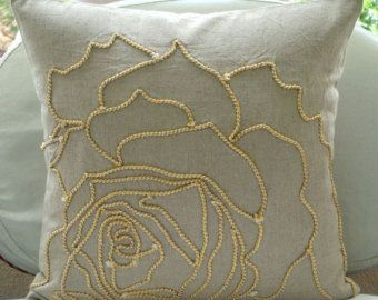 Decorative Throw Pillow Covers 16x16 Natural by TheHomeCentric