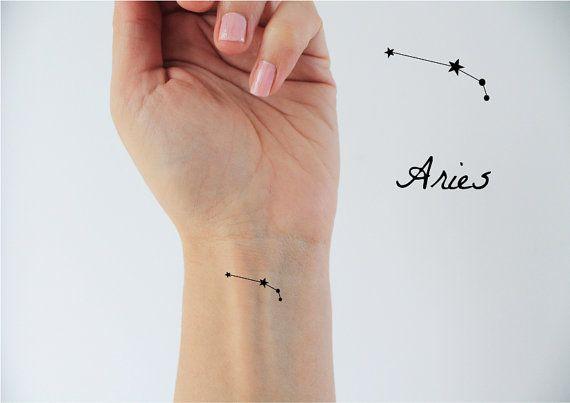 6 signos Aries temporal del tatuaje / del tatuaje de signo del