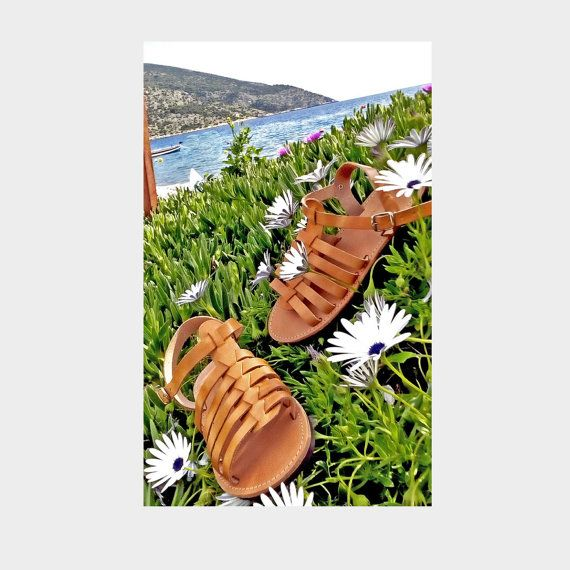 Gladiator sandals, Ancient greek sandals, Summer sandals, Summer shoes, Girls beach shoes,Flat leather greek sandals, Beach footwear,