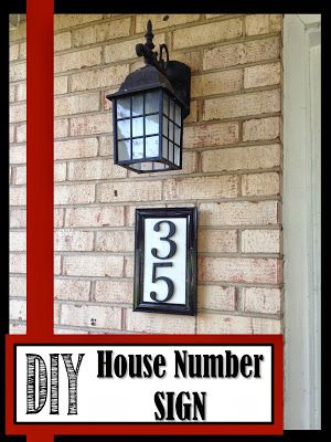 Two It Yourself: DIY House Number Sign (And how to drill into brick...