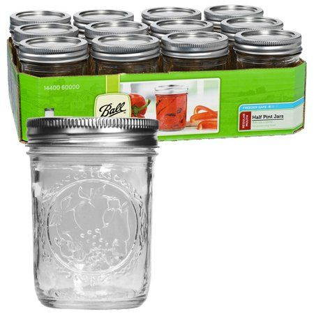 Ball Canning Regular Mouth Half Pint Canning Jar 8 oz. 12-Count