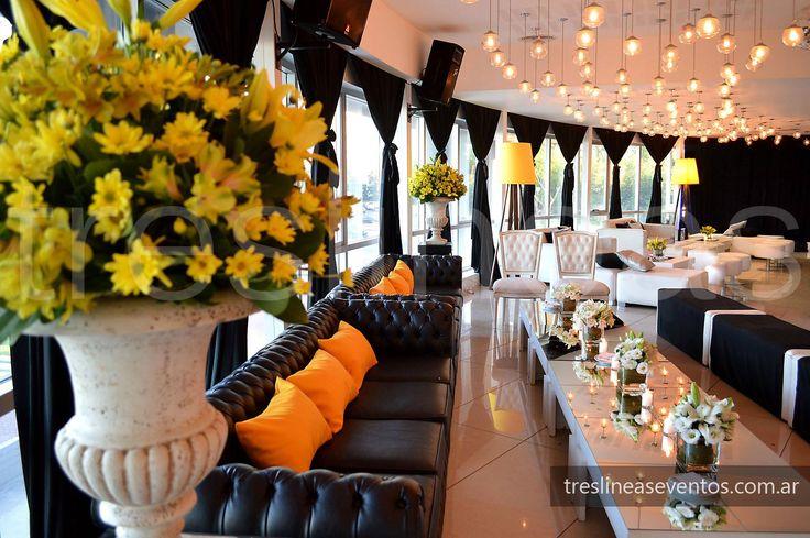 Ambientación de boda moderna. Recepción # Modern wedding decoration # Salón…