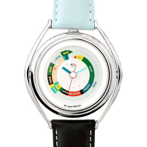 This watch eschews the conventional division of a day into 24 hours, instead it divides into unit...