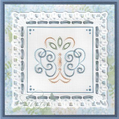 a693 combined with Marianne Design Stencil LR0234