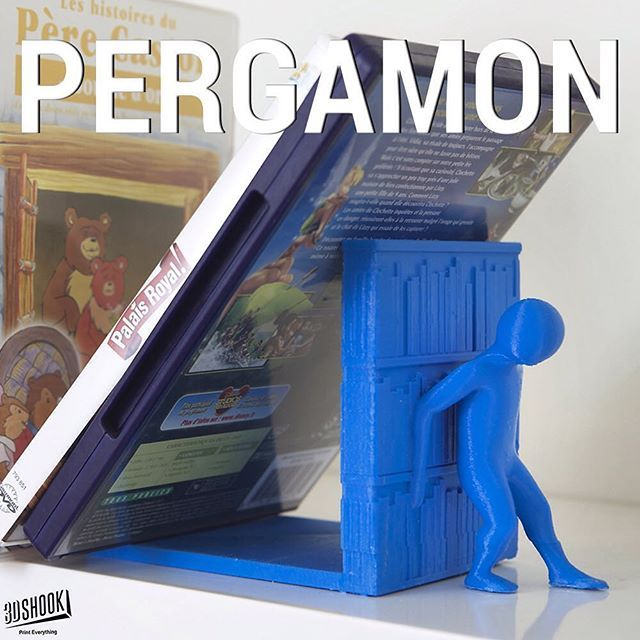 """@3dshook's photo: """"Named after the ancient library of Pergamum. For book lovers, from book lovers. Check us out at www.3dshook.com #3dprint #3dmodels #3dprinted #3dprinter #3dprinters #3dprinting #makers #makersgonnamake #PrintEverything #tech #technology #books #booklover #geek #design #cool #decor #bookend #library #pergamon #3dshook"""""""