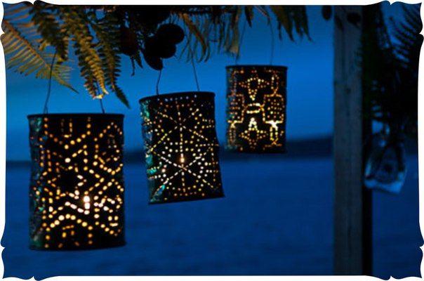 Садовые фонари из жестяных банок. [club38083676 Смотреть мастер класс в паблике...]...
