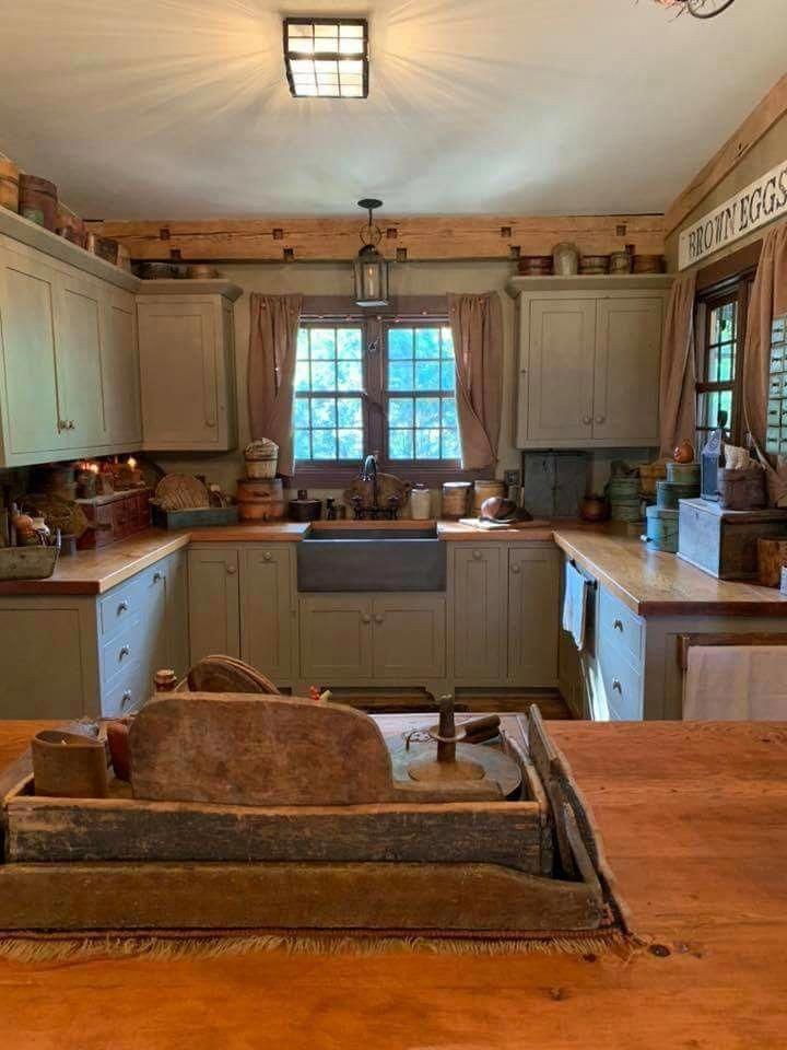 Primitive Kitchen Backsplash Ideas Primitivekitchen Primitive Kitchen Cabinets Primitive Kitchen Country Kitchen
