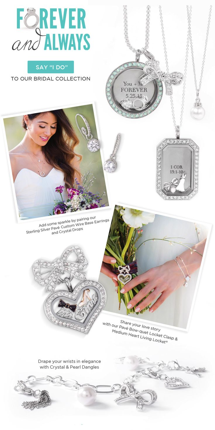 Forever + Always. Say I Do to our Bridal Collection! #origamiowl #bridal Check out the collection at www.DreamyAngel.OrigamiOwl.com