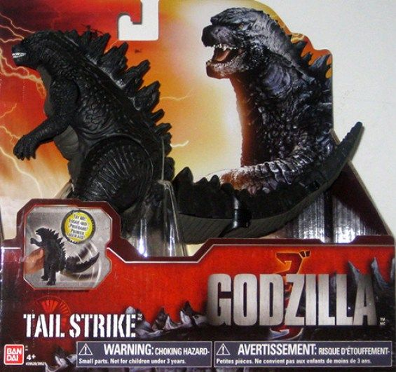 juguete Godzilla Tail Strike. Diseño de Godzilla 2014 - portal Ñoño
