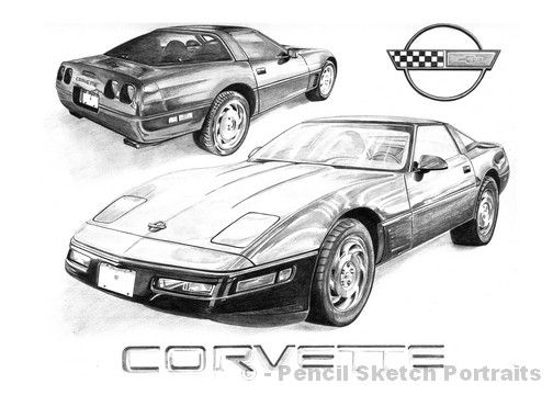 oldfashioned corvette 1995 corvette drawings drawing