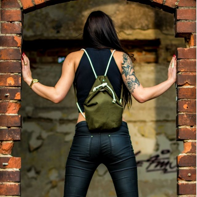 New collection, Rubberies backpack, olive. tatoo