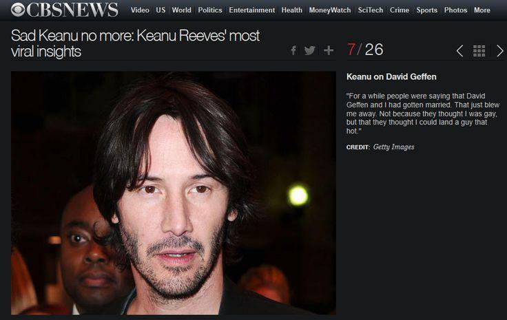 awesome Keanu Reeves Addressing Gay Rumors Check more at http://randompics.net/keanu-reeves-addressing-gay-rumors/