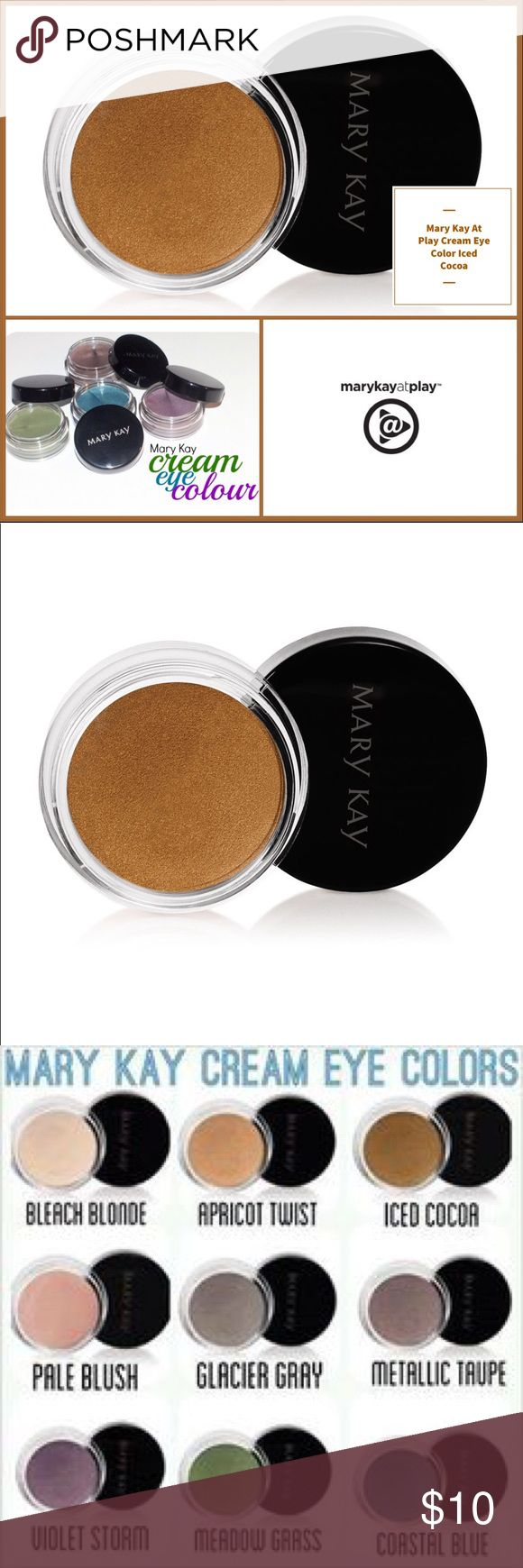 🆕 Mary Kay Cream Eye Color Iced Cocoa 🆕 Mary Kay Cream Eye Color Iced Cocoa ▪️This soft, creamy, long-wearing formula glides on easily, lasts for 10 hours and can be applied in multiple layers to deliver more noticeable color while retaining a lightweight feel. ▪️Can be used alone or as a primer under mineral eye color. ▪️Dries quickly & does not transfer. ▪️Oil- and fragrance-free. ▪️Clinically tested for skin irritancy and allergy, suitable for sensitive skin and eyes. ▪️Note: In…