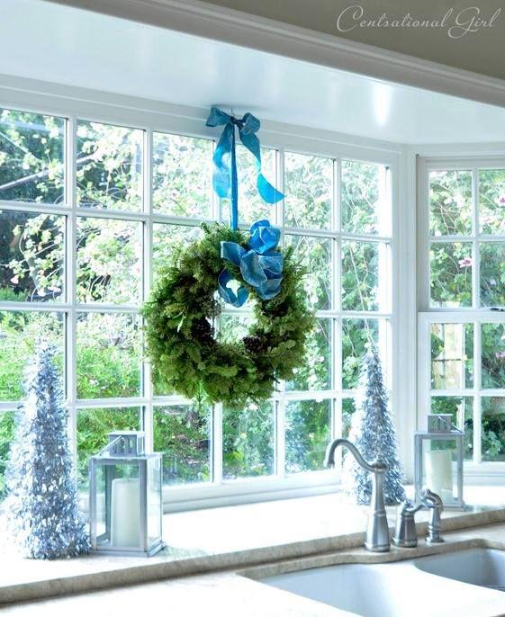 Kitchen Sink Bay Window: Hang Wreath Above Kitchen Sink