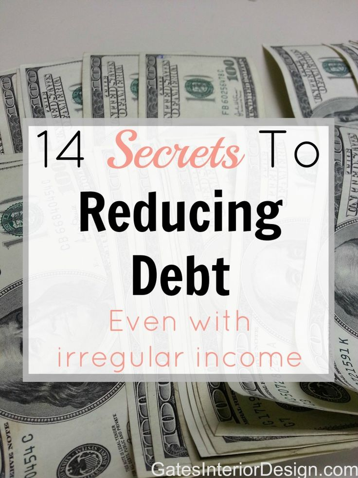 Debt plays a huge psychological role on you and your self worth. But money is only energy so don't let it take control. Here are 14 Secrets To Reducing Debt, fast! | GatesInteriorDesign.com