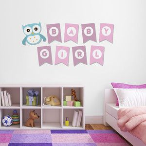 Samolepka na zeď Baby Girl, 70x50 cm