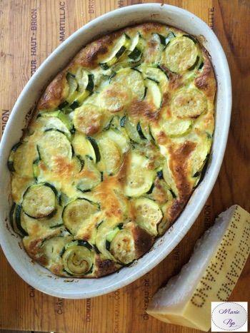 Gratin de Courgettes au Parmesan... Ce sont vos grillades qui vont être contentes !