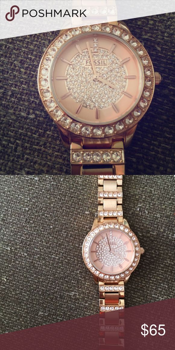 Rose gold fossil watch Battery replacement will happen before shipping! Small wrist band size Fossil Accessories Watches