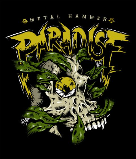 "Tshirt illustration for Metal Hammer's 2014 ""Paradise Festival"". www.bofagroup.com"