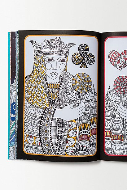 Queen Of Spades By Cindy Wilde From TheArt Therapy Colouring Book