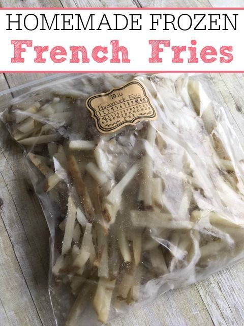 Homemade Frozen French Fries