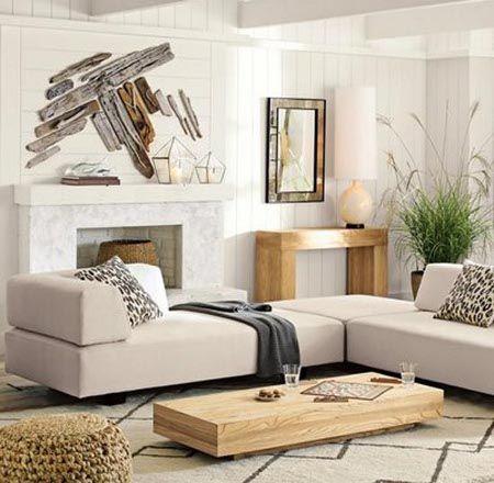 Decoración minimalista para salas pequeñas