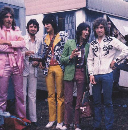 The faces: Rod Stewart, Ronnie Lane, Ronnie Wood, Ian McLagan and Kenney Jones