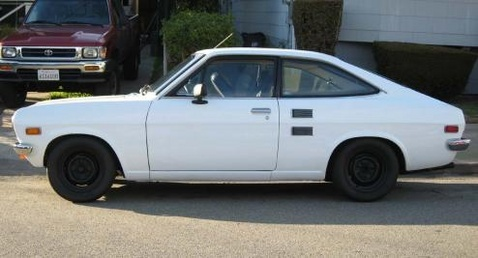 My very first car, A Datsun 1200 purchased from my boss at the First National Bank of Denver in 1973