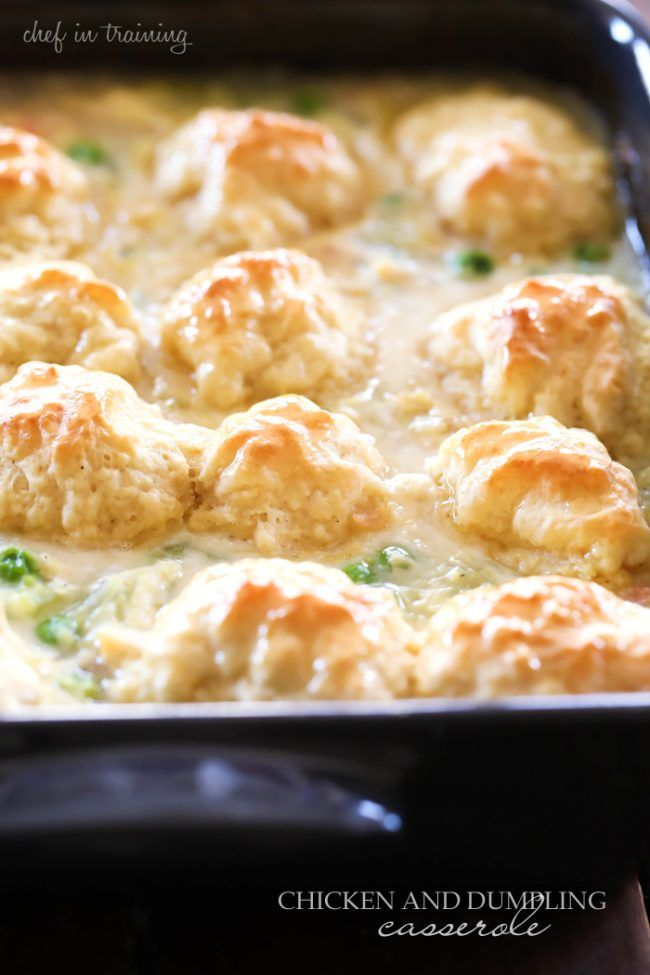 Chicken and Dumpling Casserole... This meal is so simple and full of flavor! A new family favorite!
