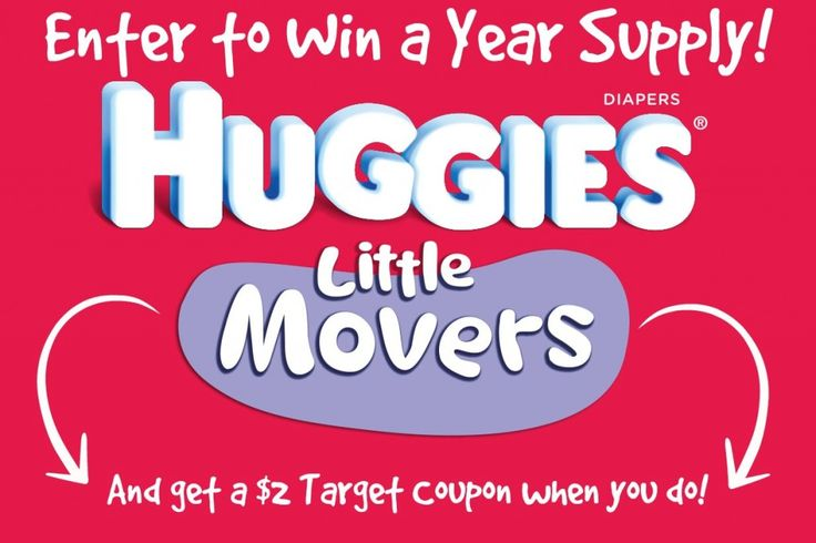 Enter to win a year supply of Huggies diapers from Target! There will be 18 winners! And you get a $2 coupon just for entering! Ends June 8, 2014! #MC #MovingMoments #sponsored