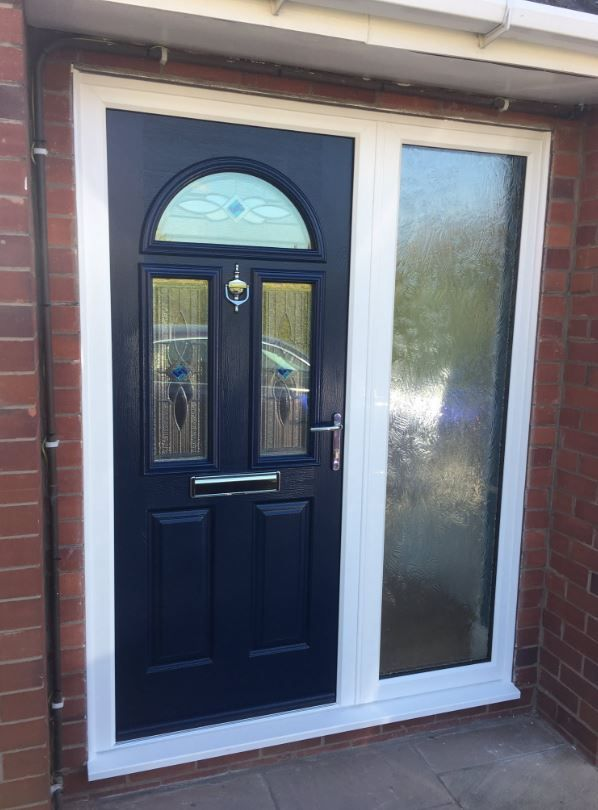 Our Skiddaw design in our classic French Navy looks amazing when paired with a side light for those larger front entrances. Design your dream Endurance door here; http://design.endurancedoors.co.uk/