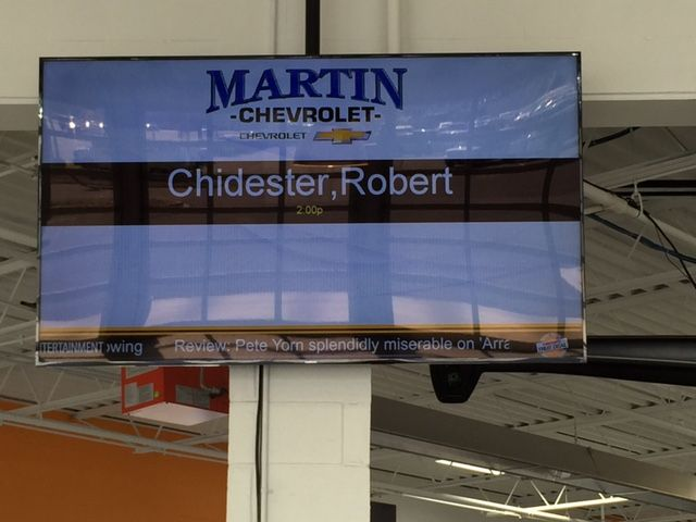 Chevy Service Greeter Board