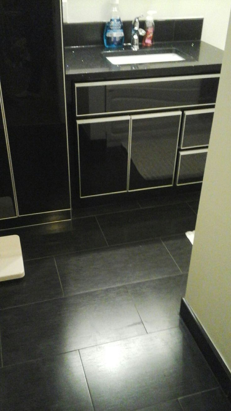 Completed my bathroom  renovation.  Here are some pics. Gorgeous floor tile from excel kitchen and bath (calgary)