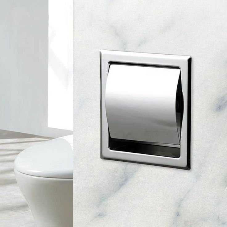 Functional Recessed Toilet Paper Holder