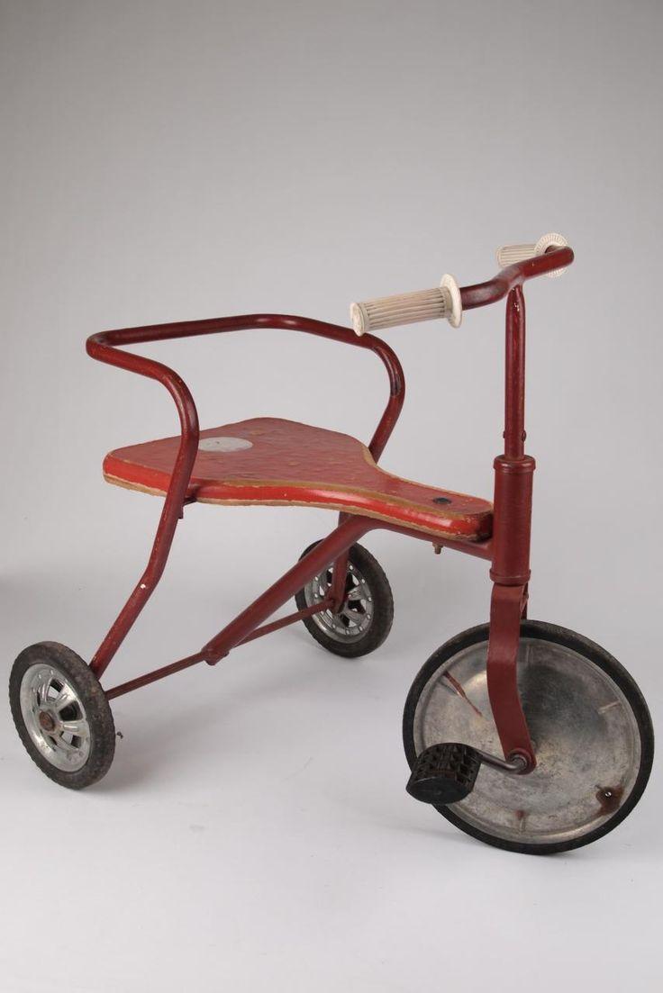 Rode driewieler had ik ook.