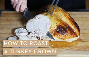 How to roast a turkey crown