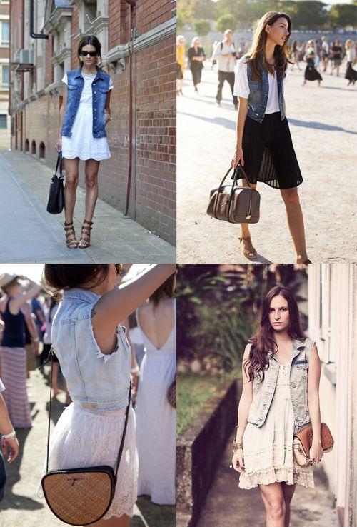 Veste en jean sans manche femme jennifer