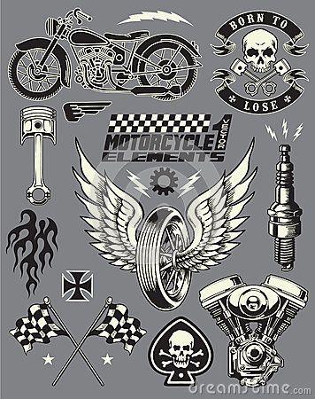 Ensemble d éléments de vecteur de moto
